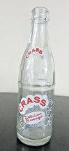 Vintage nice applied color label  CRASS delicious beverage bottle  by Co... - $24.93