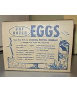 Vintage Egg Carton One Dozen Chicken Graphics m... - $3.99