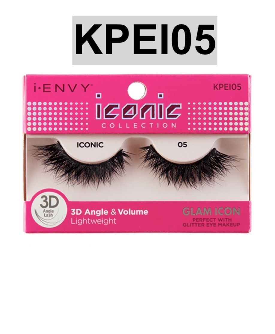 Primary image for I ENVY BY ICONIC COLLECTION 3D ANGLE & VOLUME EYELASHES # KPEI05 GLAM ICON