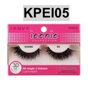 I ENVY BY ICONIC COLLECTION 3D ANGLE & VOLUME EYELASHES # KPEI05 GLAM ICON - $3.75