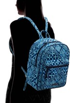 Vera Bradley Quilted Signature Cotton Leighton Backpack, Cuban Tiles image 2