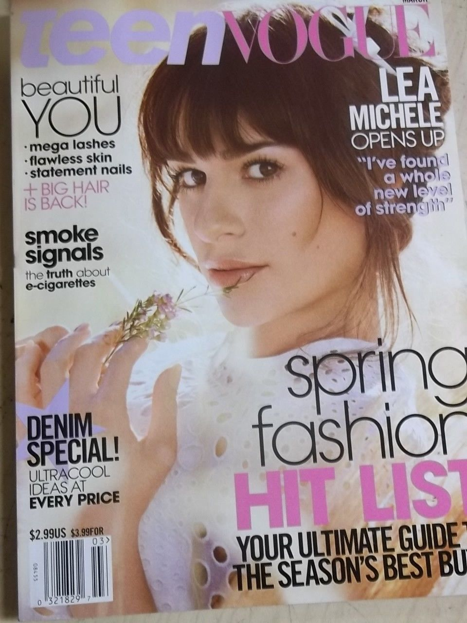 march 2014 Teen Vogue Lea Michele sexy cover Spring Fashion issue +Maia Mitchell
