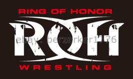 ROH Ring of Honor Wrestling 3'x5' black flag banner - WCW, WWF, WWE usa seller - $25.00