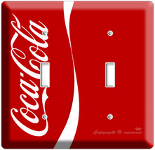 NEW VERTIC RED COCA-COLA CLASSIC DOUBLE LIGHT SWITCH COVER W - $8.99