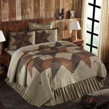 5-pc Novac Queen Quilt Set - Fabric Euro Shams & Hand-quilted Standard Shams VHC