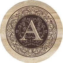 Monogram A Sandstone Coasters - $20.00