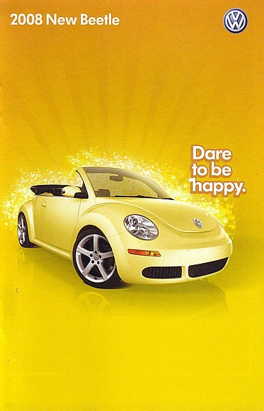2008 Volkswagen NEW BEETLE brochure catalog US 08 VW S SE