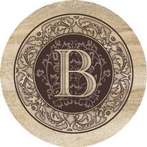 Monogram B Sandstone Coasters  - $20.00