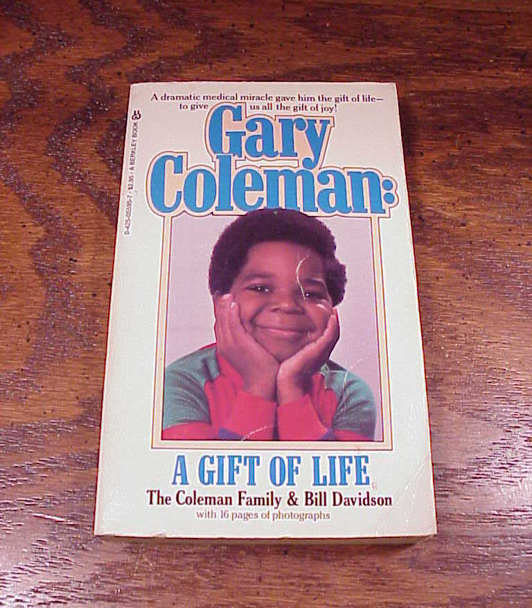 1982 Gary Coleman A Gift of Life Paperback Book PB