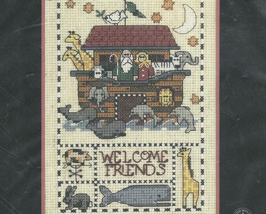 Counted Cross Stitch Kit Noah's Ark Welcome Friends Debbie Mumm 6776 NIP Crafts