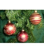 GLITTER BALLS - Set of 3 - One Great Sparkly Deal! - £7.31 GBP