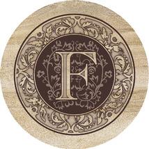 Monogram F Sandstone Coasters  - $20.00
