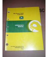John Deere 980 Drawn Field Cultivator Operator's Manual - $12.00
