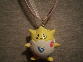 Novelty Pokemon Togepi Figure Charm Necklace Cute Anime Gift Cool Jewelry  - $9.79