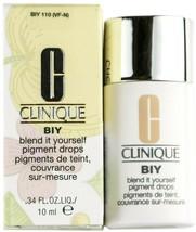 Clinique BIY Blend It Yourself Pigment Drops BIY 110 .34 Fl. Oz/10ml Fou... - $8.99