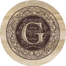Monogram G Sandstone Coasters  - $20.00