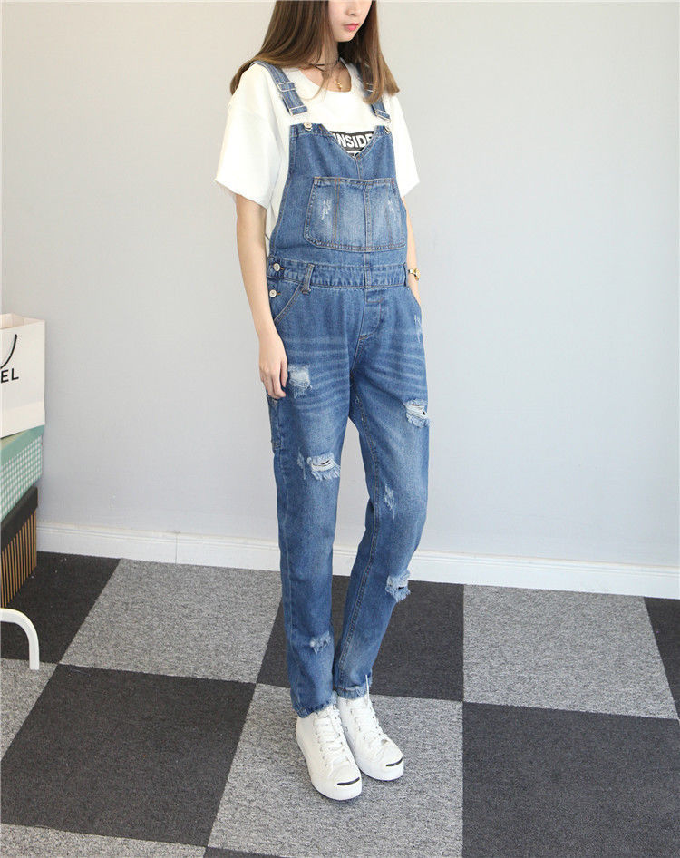 60cd138c2ea2 Maternity Trousers Pregnant Denim Overalls Belly Pants Adjustable Plus  Jumpsuits