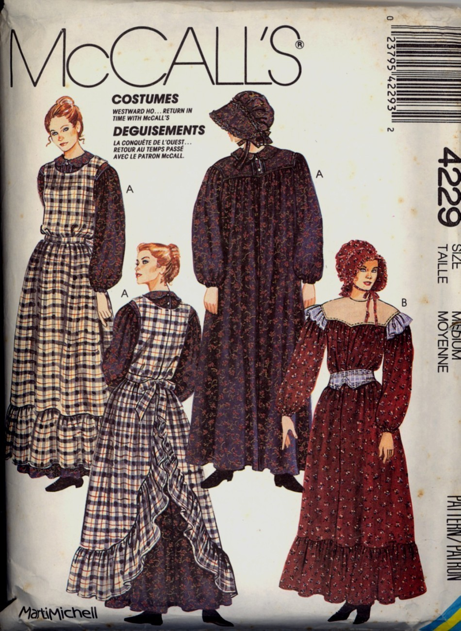 Pioneer Dress Pinafore Sewing Pattern Size M New