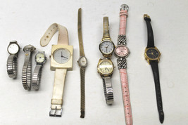 9 Pc Vintage Womens Watch Lot Guen+Timex+Advance+Armitron+Faded Glory+Lucerne+++ - $41.13