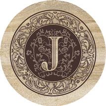 Monogram J Sandstone Coasters  - $20.00
