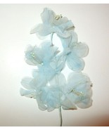 Vintage Millinery Flowers SHEER TULLE ORGANDY Blue - $6.82