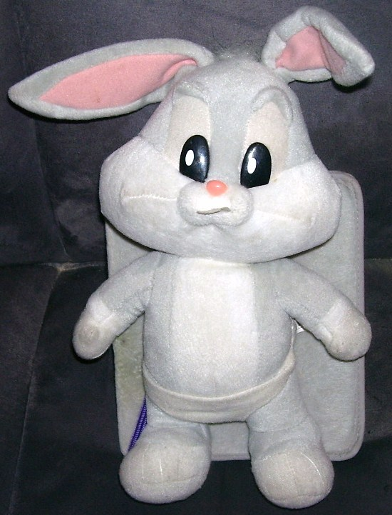 Baby bugs bunny plush with book