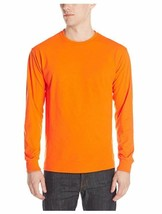 NEW Jerzees Men's Adult Long Sleeve Tee X Sizes, Safety Orange, 2XL 166 ... - $9.49