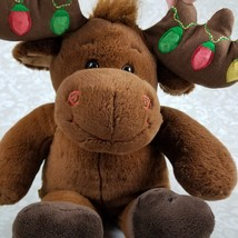 Build A Bear 16 Inch Moose Hal Brown Plush with Antlers Christmas Reinde... - $12.99