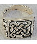 Silver lines man ring - $30.00