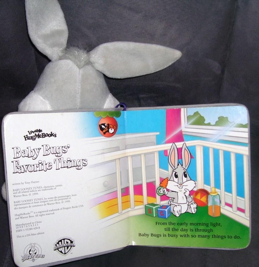 "BABY BUGS' FAVORITE THINGS Plush 12"" w/Book 1999 RARE"