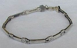 Silver bracelet D - $20.00