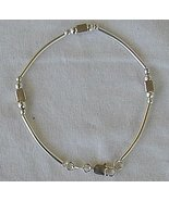 Cubes and strips silver bracelet - $22.00