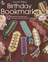 Crochet-Tatting Pattern Booklet-Birthday Bookma... - $6.76