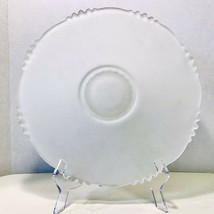 Village Guild By Indiana Glass Hand Made Etched Frosted Crystal Cake Pla... - $20.99