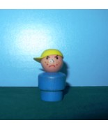 VINTAGE FISHER PRICE LITTLE PEOPLE W/W BLUE BODIED BULLY BOY - $11.00
