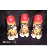 Set of 3 Porcelain Fire Dog Banks - $6.00