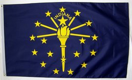 State of Indiana Flag 3' X 5' Indoor Outdoor State Banner - $9.95