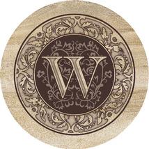 Monogram W Sandstone Coasters  - $20.00