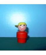 VINTAGE FISHER PRICE LITTLE PEOPLE W/P RED BODIED BULLY BOY! - $11.00