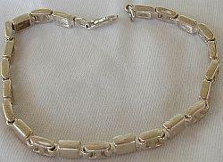 Silver cubes bracelet