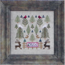 Woodland Tree Farm cross stitch chart Blue Ribbon Designs  - $8.10