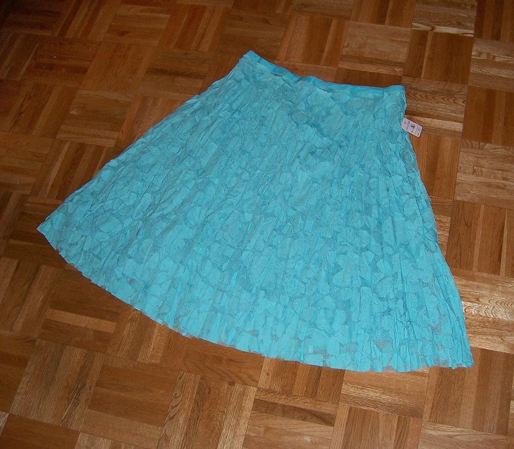 Sky blue textured circle skirt
