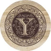 Monogram Y Sandstone Coasters  - $20.00