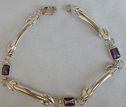 Primary image for Purple silver bracelet