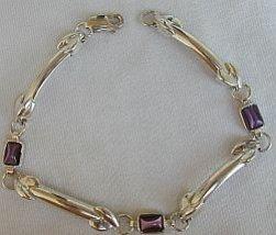 Purple silver bracelet - $32.00