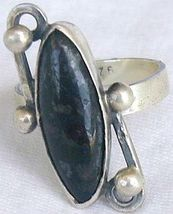 Black glass ring - $25.00