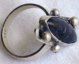 Black glass ring