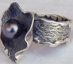 Black pearl hand made ring hma 2 thumb200
