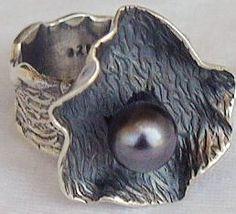 Black pearl hand made ring hma 3 thumb200