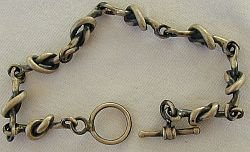 Oxygenized silver bracelet